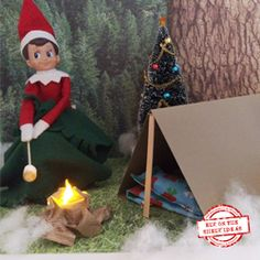 """Camping Trip"""" Elf. Templates and Step-by-Step Tutorials. New Themes added daily   organizedCHAOSonline"""