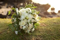 White rose bouquet by Teresa Sena Design - Anna Kim Photography