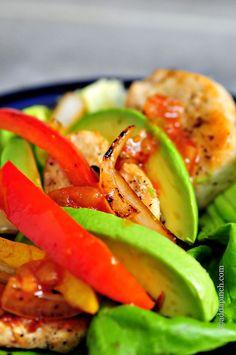 Chicken Fajita Lettuce Wraps Recipe - Cooking | Add a Pinch | Robyn Stone