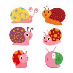 Baby Painting, Pebble Painting, Snail Art, Kids Graphics, Autumn Activities For Kids, Art Deco Design, Children's Book Illustration, Doodle Art, Pet Birds