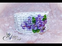 Wicker paper tutorial - basket with flowers - YouTube