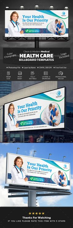 Buy Medical Health Care Billboard by Creative-Touch on GraphicRiver. This Billboard Template is perfectly suitable for promoting your Business. You can also use this template in multipur. Logo Design, Signage Design, New Jersey, Lavatory Design, Medical Health Care, Banner, Bone And Joint, Health Logo, Promote Your Business