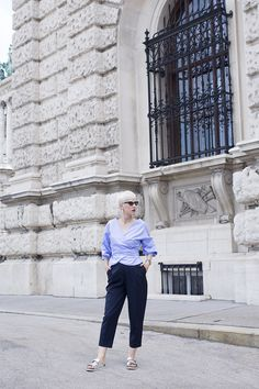 Looking at the length of the sleeves and high waist trousers you would say it's not an everyday summer outfit, but when the material is right, I find Fashion Bloggers, High Waist, Summer Outfits, Trousers, Street Style, My Style, Pants, Urban Style, Summer Looks