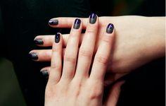 Textured geometric nails at Wes Gordon