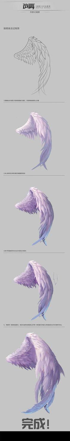 深圳战翼CG文化每周一课《翅膀的画法》过程-陈战, chen zhan on ArtStation at http://www.artstation.com/artwork/cg-9502607a-edc0-42b2-90bb-58df4adfe84f