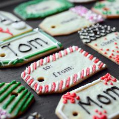 Christmas Cookie Gift Tags from Food and Wine