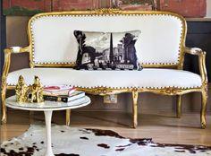 gilded sofa