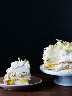Lemon Meringue Cake (dacquoise) with White Chocolate, Lemon Curd ...