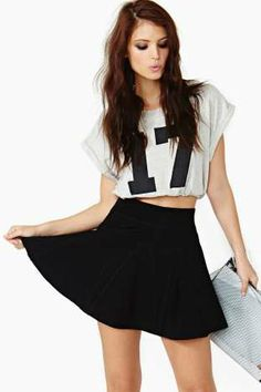 Night Flare Skirt $52.00 #Factory