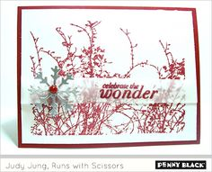 Judy Jung - etched branches - Penny Black