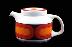 Mid Century Retro Porcelain Coffee Pot.. Form 3000 Sizillia/Sicillia Arzberg.. Designed by Hans Theo Baumann.. Early 70s..