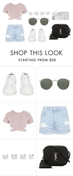"""WITH YOU"" by esthervyi ❤ liked on Polyvore featuring adidas, Ray-Ban, Asilio, Topshop, Maison Margiela, Yves Saint Laurent and Uncommon"