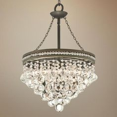 "Regina Bronze 19"" Wide Crystal Chandelier - #U2231 | LampsPlus.com 19x26 sale $300 crystal"