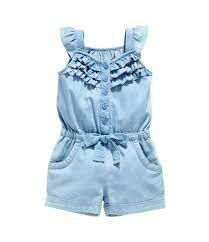 Denim Overall ShortsOWIKAR Baby Girls Rompers Lace Denim Vest Shorts Boat Neck Summer Dress For Age brand new and high quality. Material: cotton Seasons: Summer Suitable ages: years old girls Dress type: baby girls rompersKids Baby Girls Clothing Rom Baby Outfits, Kids Outfits, Baby Girl Romper, Baby Girl Dresses, Baby Girls, Kids Girls, Toddler Girls, Girls Fit, Baby Boy