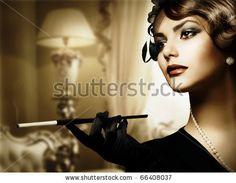 Retro Woman Portrait in Classic Interior by Subbotina Anna, via ShutterStock
