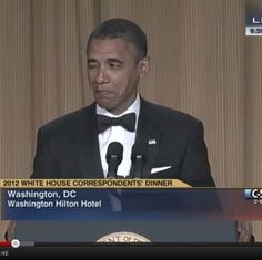 The President of the United States does a little stand-up at the Washington Correspondents' Dinner.  Starts slow but keep watching.  Whether you find him amusing or not (you will), i know you will agree he's the cutest thing you ever saw.  (And Michelle is beautiful.)  Check it out!