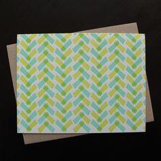 hakama letterpress note cards - set of 6