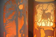 Carved PVC Pipe Lamps from Zimbabwe