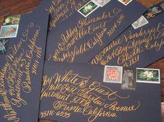 Wedding Calligraphy Invitation Envelope por calligraphybyhillary