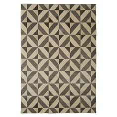 Charcoal Gray Diamond Triangle Pattern Rug - Woodwaves