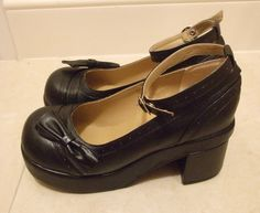 Black Sweet lolita dolly high heels shoes US 5.5 - 10.5
