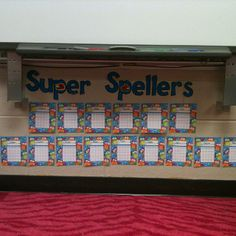 When the students score a B on a spelling test they get a sticker to put on their incentive chart. If they make an A they get two stickers. Once the student gets 5 stickers they get a prize from the treasure box. After 10 they get a treat. Once they fill their chart they get to have lunch bunch and no spelling homework for the next week.