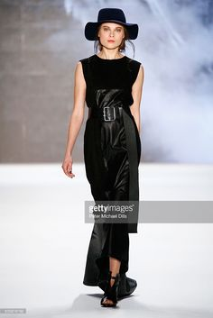 A model walks the runway at the Rebekka Ruetz show during the Mercedes-Benz Fashion Week Berlin Autumn/Winter 2016 at Brandenburg Gate on January 20, 2016 in Berlin, Germany.