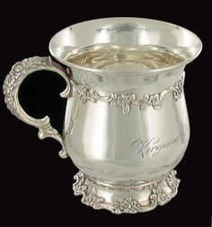 ANTIQUE TIFFANY CHRISTENING CUP STERLING SILVER VIRGINIA BLAIR MARYLAND