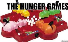 Funny decor - Game night party - Hungry Hungry Hippos