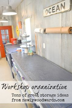 Check out this awesome garage transformation - a messy, overstuffed garage become an organized multi-purpose space for the whole family. Tons of great organizing tips!