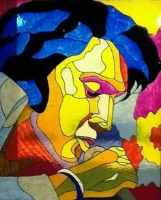 Stained Glass Elvis