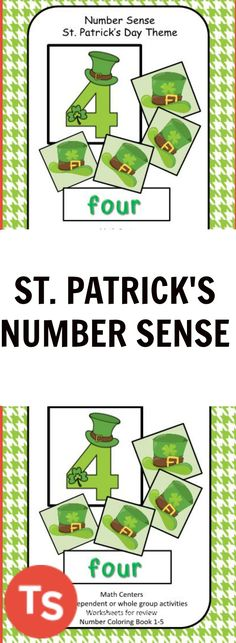 Students will practice matching the correct number of objects to the numbers. They will match words to the numbers. They may also match the correct number of objects to the written number word. This product is perfect for a whole group and/or independent review of numbers. #numbers #stpatricksday #earlycorelearning