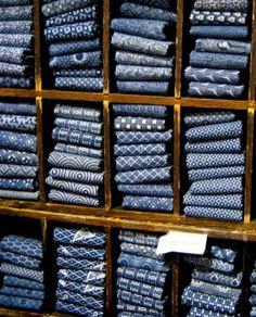 japanese Indigo Fabrics by Liz West