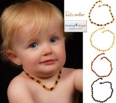 Baltic Amber Teething Necklace Currently, there are two different thoughts at why wearing Amber on the skin can have soothing and calming effects on teething children. Amber Necklace Baby, Baltic Amber Teething Necklace, Teething Symptoms, Amber Resin, Healing Oils, Mom And Baby, Baby Items, Teething Babies, Great Gifts
