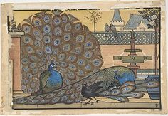 Walter J. Morgan  (British, Bilston 1847–1924 Birmingham). Peacocks in a Garden, 1867–1924. The Metropolitan Museum of Art, New York. The Elisha Whittelsey Collection, The Elisha Whittelsey Fund, 1973 (