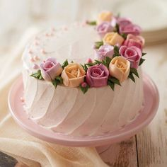 Tart Decoration Ideas Piping Frosting Recipe For Cakes Birthday Cake With Flowers, Beautiful Birthday Cakes, Birthday Cakes For Women, Beautiful Cakes, Amazing Cakes, Cake Flowers, Birthday Cake For Women Elegant, Peony Cake, Birthday Cake For Mom