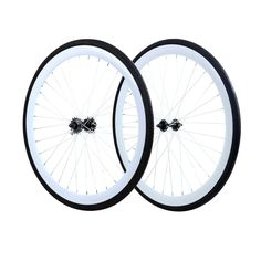 X-Speed Fixie Flip-Flop Track Wheelset Fixed Gear Wheelset, White Rims, Fixed Gear Bike, Bike Wheel, Cogs, All In One, Bicycle, Track, Fat