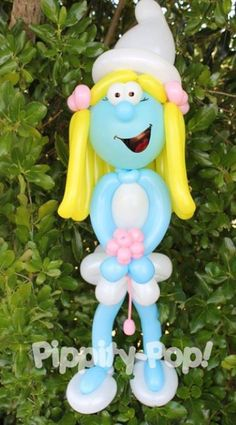 Balloon smurfette sculpture. #Balloon sculpture smurf #balloon-sculpture-smurf #balloon art smurf #balloon-art-smurf #balloon twist smurf #balloon-twist-smurf #balloon character smurf #balloon-character-smurf