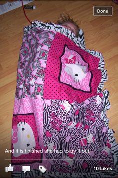 Diva hello kitty DIY blanket
