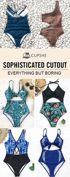 Having a cut out swimsuit, allows for a sexier way to cover up just a little more of your skin without having to wear a one piece. Cut out swimsuit will be the hot new trend this summer and next, so why not shop for one now?
