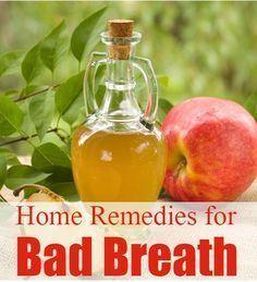 Home Remedies for Bad Breath using Apple Cider Vinegar