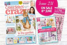 **NEW ISSUE ON SALE!!** Pick up your copy of Crazy issue 232, on sale today! Inside, you'll find a stunning Peter Rabbit project, stylish summer drinks, fairground gift ideas and much, much more! Plus, you'll get a free Emma Congdon Summer Chart Book and two metallic threads with every mag. Get your copy at all good newsagents. xx #needlepoint