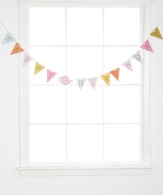 Love this 'Happy Birthday' Banner - Set of Two on #zulily! #zulilyfinds