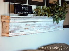 faded country wooden shelf DIY