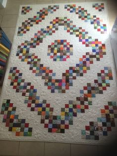 Barnraising Scrappy Quilt made by JENNR8R of the Quilting Board