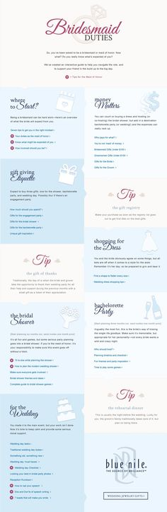 So, you've been asked to be a bridesmaid or maid of honor. Now what? Do you really know what's expected of you?  We've created an interactive guide to help you navigate the role, and to support your friend on the big day.