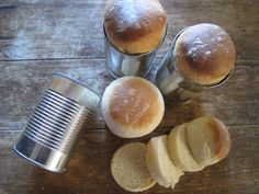 Homemade Bread Recipe ~ In an upcycled bean can for fun:)