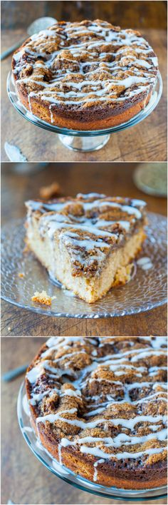 Cinnamon Roll Coffee Cake with Cream Cheese Glaze - The great taste of cinnamon rolls, minus any of the waiting or work!