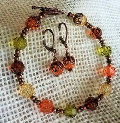 af2e09bce4c6 Fall Bracelet Fall Earrings Fall Jewelry Fall colored Jewelry Autumn jewelry  Thanksgiving jewelry  earringshandmade
