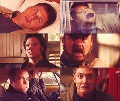 Supernatural [funny faces :D] nice.. got to love the men from supernatural! Misha's is the best.